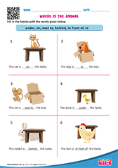 Printables Preposition Kindergarten Worksheets english prepositions worksheets kindergarten kindergarten