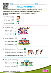 Interrogative and Declarative Sentences Worksheet for 2nd - 5th ...