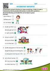 Free Printable Sentences Worksheets For Pre K Kindergarten - Download Free Printable Kindergarten Sentence Writing Worksheets PNG