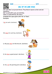 Free Printable Verbs Worksheets for Pre-k & Kindergarten