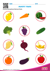 Science Fruits And Vegetables Worksheets Pre-k