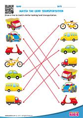 Science Land Transport worksheets Kindergarten