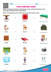 math worksheet : english form compound words worksheets kindergarten : Compound Words Worksheets For Kindergarten