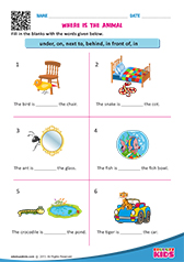math worksheet : english prepositions worksheets kindergarten : Preposition Worksheets Kindergarten