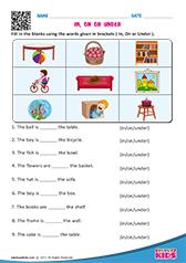 Worksheets Preposition Kindergarten Worksheets english prepositions worksheets kindergarten