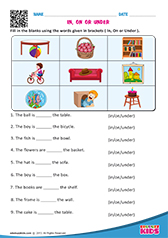 math worksheet : english prepositions worksheets kindergarten : Preposition Worksheets For Kindergarten