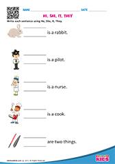 math worksheet : english pronouns worksheets kindergarten : Kindergarten Pronoun Worksheets