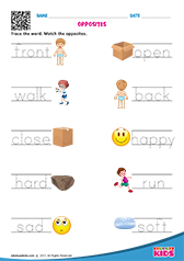 Worksheets Opposite Words For Kindergarten Students english opposite words worksheets kindergarten words