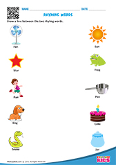 math worksheet : english rhyming words worksheets kindergarten : Rhyming Kindergarten Worksheets