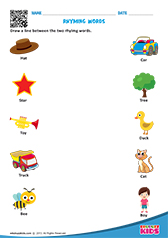 math worksheet : english rhyming words worksheets kindergarten : Rhyming Words Worksheet For Kindergarten