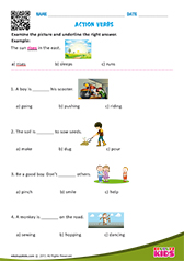 math worksheet : english action verbs worksheets for kids : Action Words Worksheets For Kindergarten