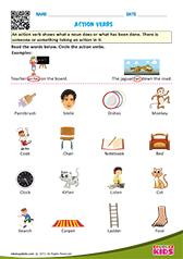 math worksheet : english action verbs worksheets for kids : Action Words Worksheets For Kindergarten