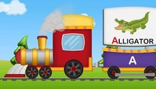 A to Z Animals Train | Animals Sounds