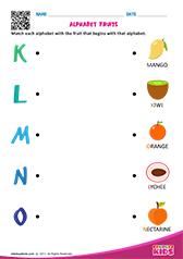 Printables Pre-k Worksheets Pdf pre k english worksheets davezan match alphabet fruits k