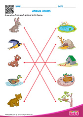 Science Animal Homes worksheets pre-k