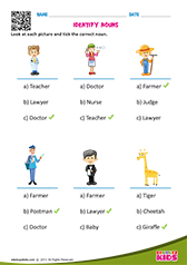 English Nouns Worksheets Grade-1