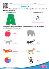 english vowels worksheets kindergarten trace and write kindergarten