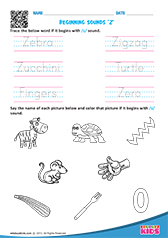 Trace Beginning Sounds