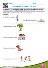Agreement of subjects & verb
