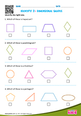 Identify 2-dimensional shapes
