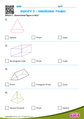 Identify 3-dimensional figures