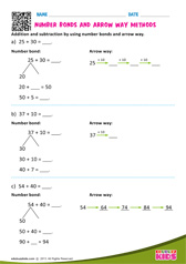 Arrow way and number bond method