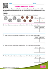 Adding Dimes and Pennies