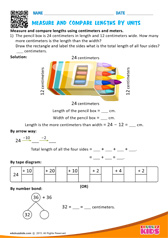 Compare Lengths by Units