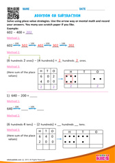 Solve using place value Strategy