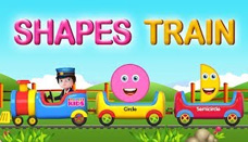 Shapes Train - Learning Shapes Nursery Rhymes for children