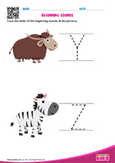 Beginning Sounds Y & Z