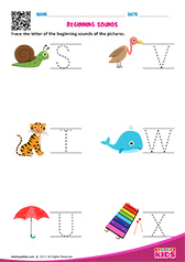 Beginning Sounds S to X